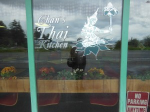 Locals said that Chan's was the best Thai - we think that it is the only Thai. But the egg rolls were good.